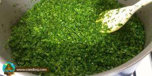 انواع سبزی خام خرد شده